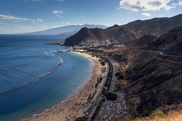 Playa de las Teresitas en Santa Cruz